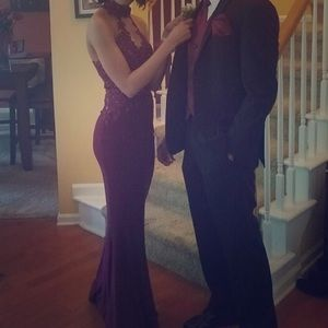 Bordeaux Prom Gown